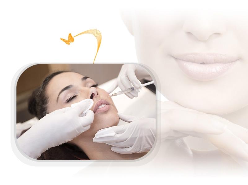 Lippenvergrösserung und Gesichtsmodellierung mit Implantaten