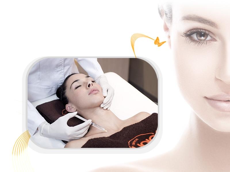 Gesicht-Mesotherapie mit Vitaminen
